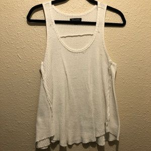 AEO white waffle thermal tank